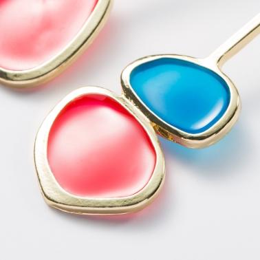 Retro ronde oorstekers roze
