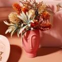 Armbandje rose peach-zilver