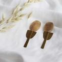 Speciale oorstekers druppel met hart + kleuren