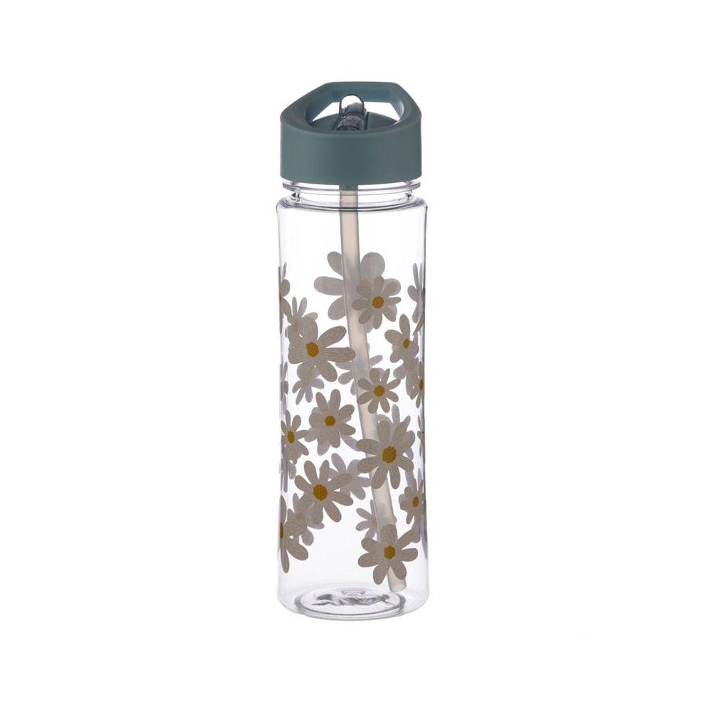 Houten oorbellen druppel bloemen